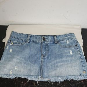 Abercrombie & Fitch distressed denim jeans skirt 4